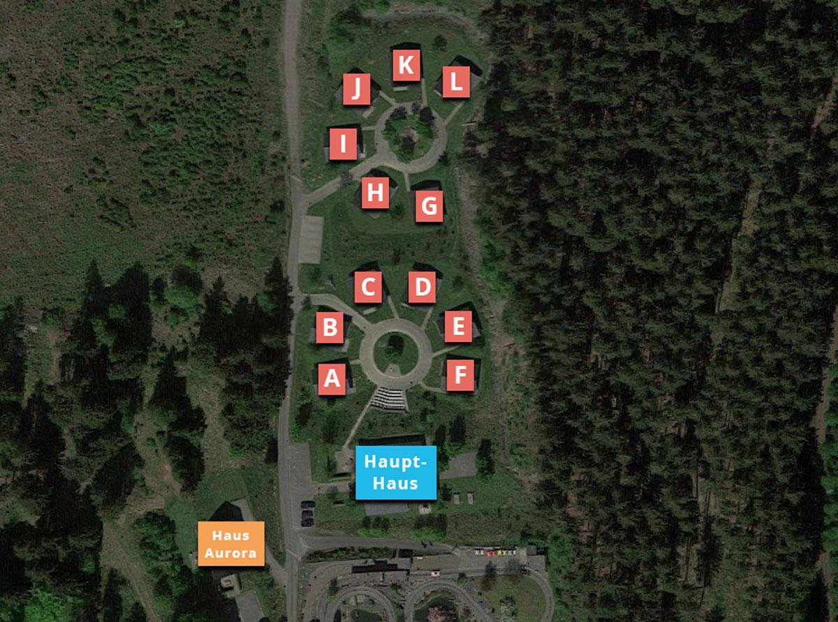 Lageplan des Erholungsparks Haus Aurora